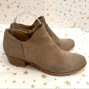 Lucky Brand | Brett Low Heeled Suede Ankle Boot